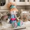 """Набiр для шиття ляльки на льняній основі - Текстильна лялька """"Розумниця"""""""