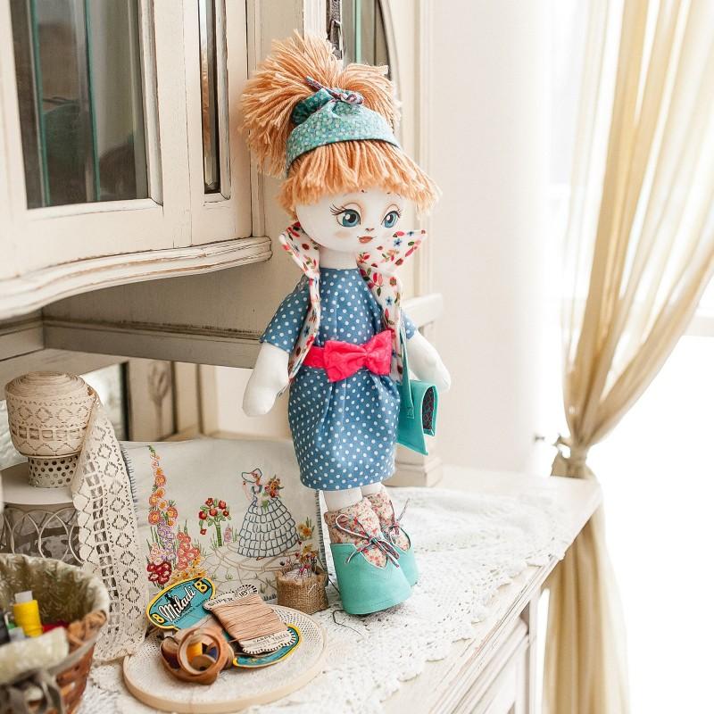 """Nova Sloboda - Набiр для шиття ляльки на льняній основі - Текстильна лялька """"Розумниця"""" / фото №777"""