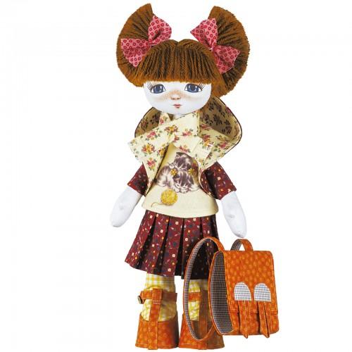 """Набор для шитья кукол на льняной основе. Текстильная кукла """"Первоклассница"""""""