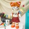 """Набiр для шиття ляльки на льняній основі - Текстильна лялька """"Першокласниця"""""""