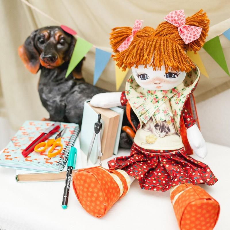 """Nova Sloboda - Набiр для шиття ляльки на льняній основі - Текстильна лялька """"Першокласниця"""" / фото №783"""
