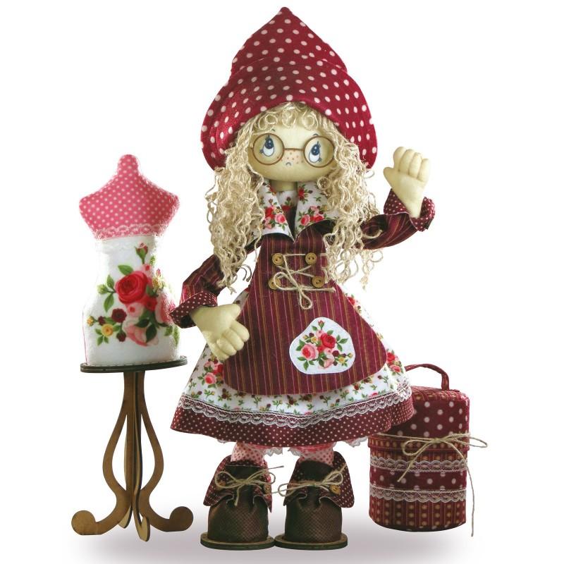 """Набір для шиття інтер'єрної каркасної ляльки """"Модистка"""""""