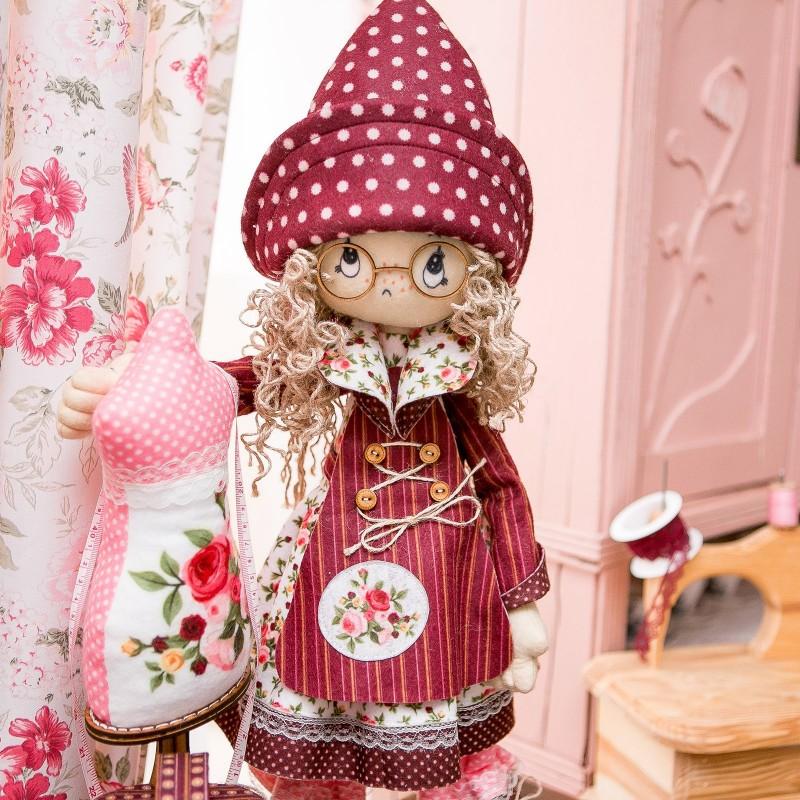 """Nova Sloboda - Набір для шиття інтер'єрної каркасної ляльки """"Модистка"""" / фото №809"""