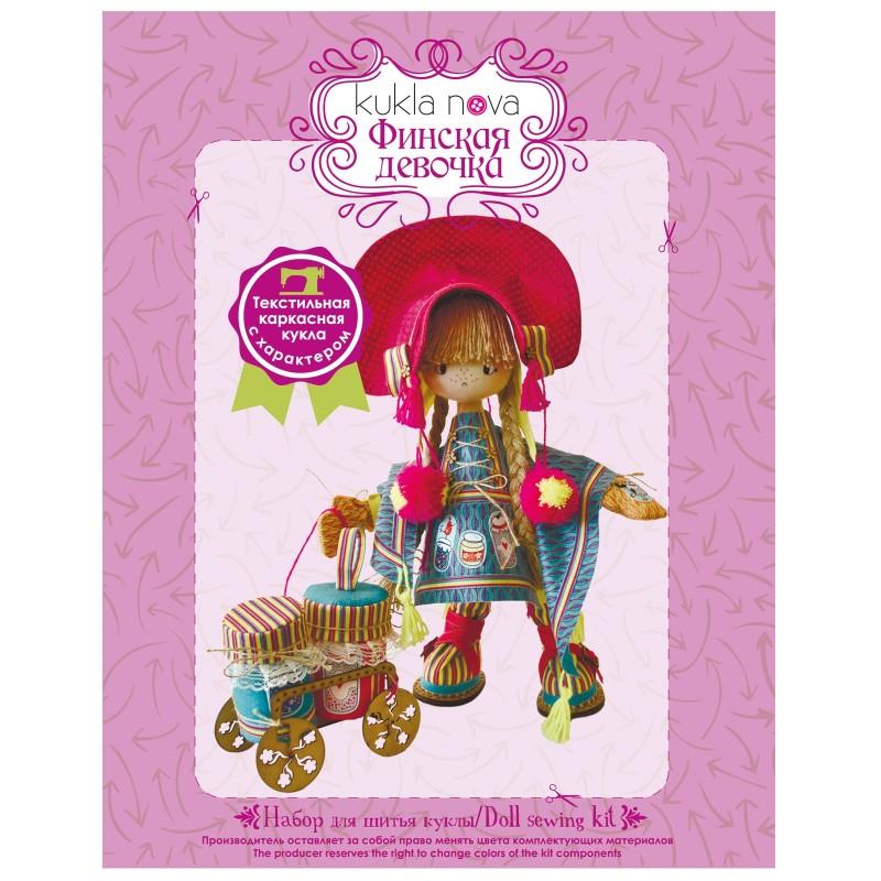 """Nova Sloboda - Набір для шиття інтер'єрної каркасної ляльки """"Фінська дівчинка"""" / фото №824"""