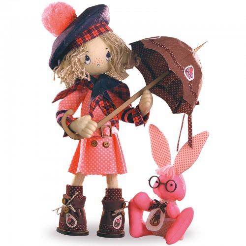 """Набор для шитья каркасной интерьерной куклы """"Шоколадница-беби"""""""